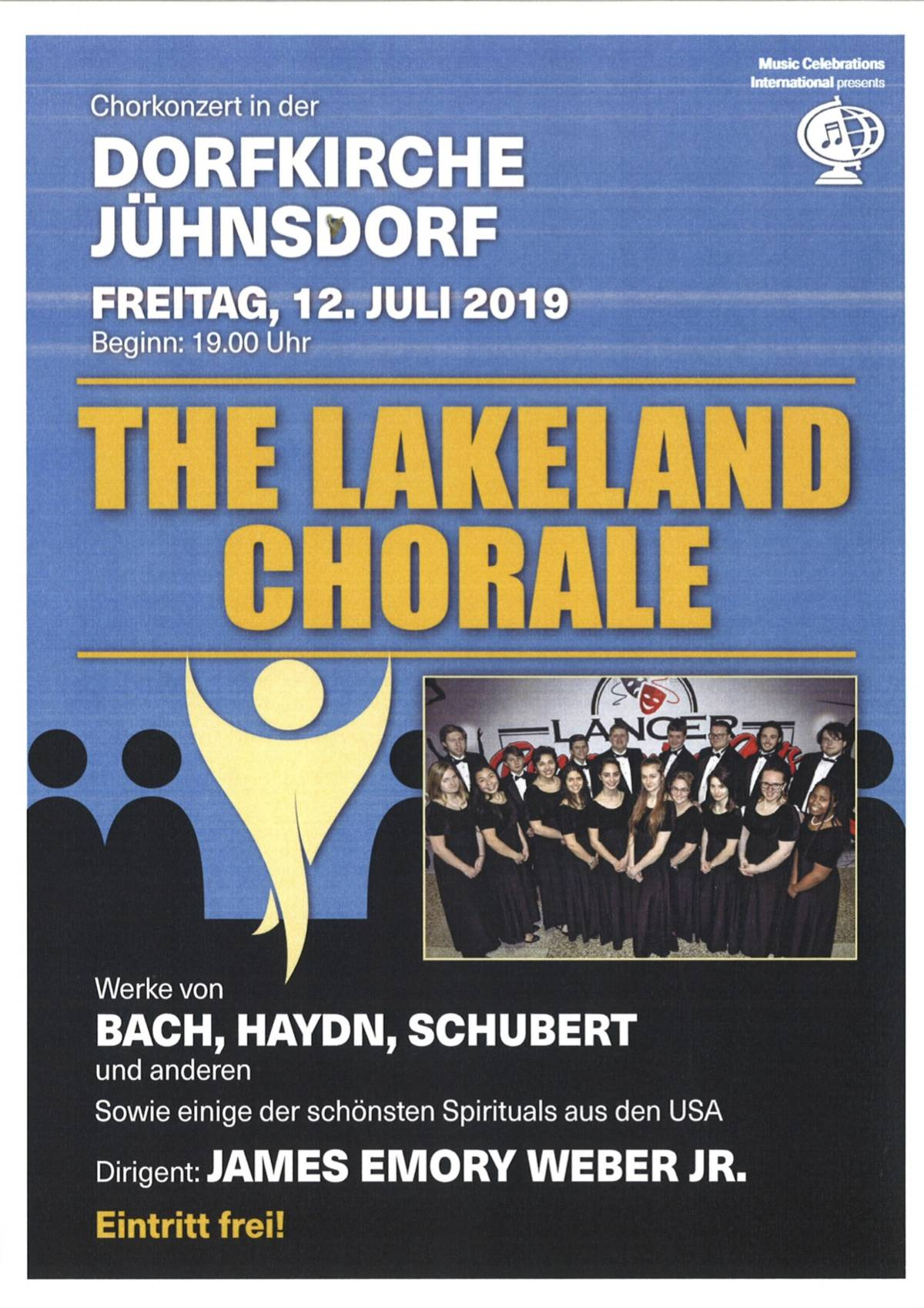 12. Juli 2019 The Lakland Chorale